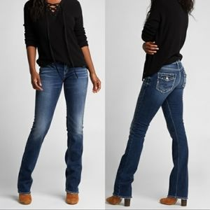 Silver Jeans Suki Mid Slim Bootcut Jeans Flare Y2K